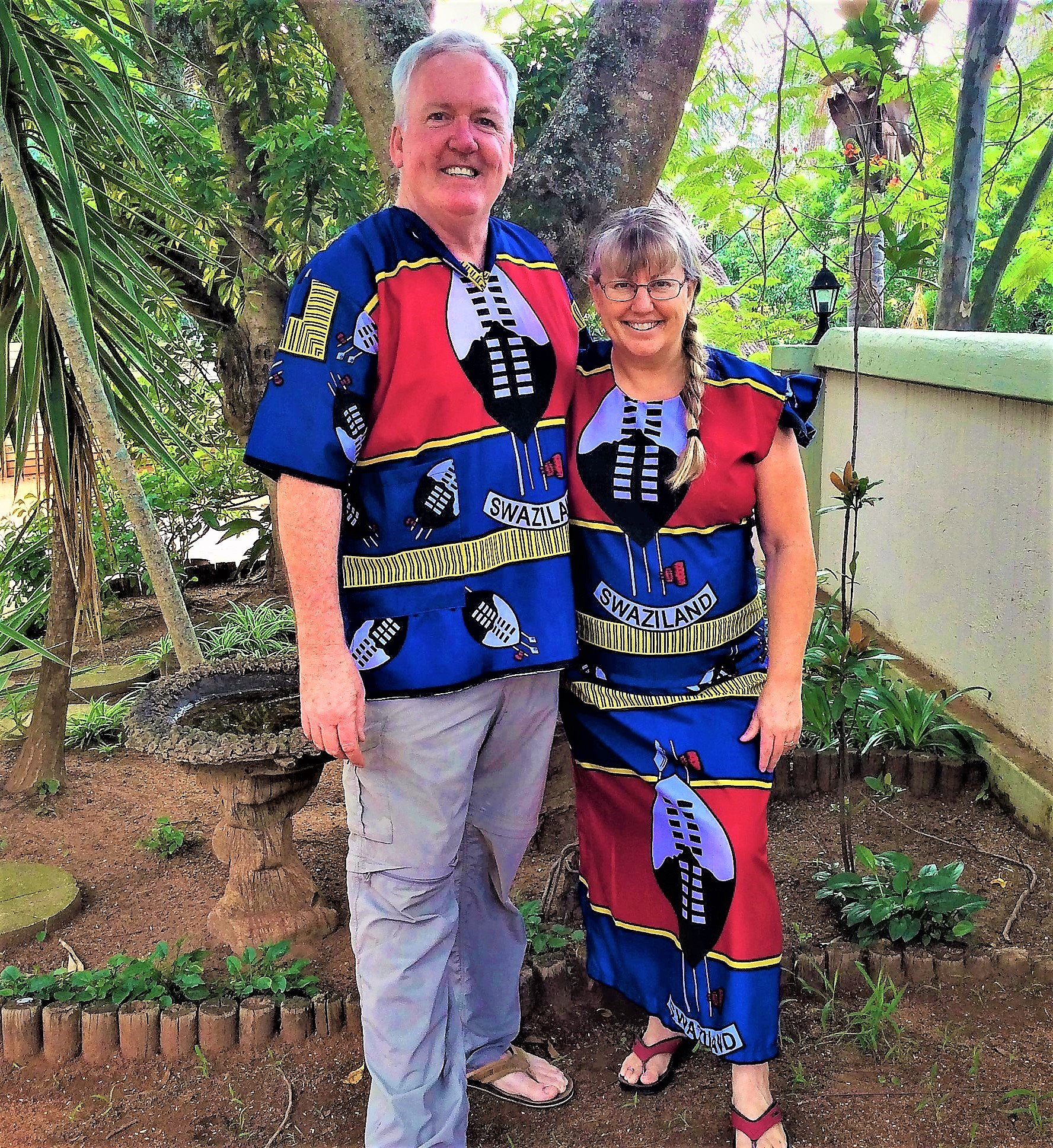 kay & john in swazi sec. 19 gear